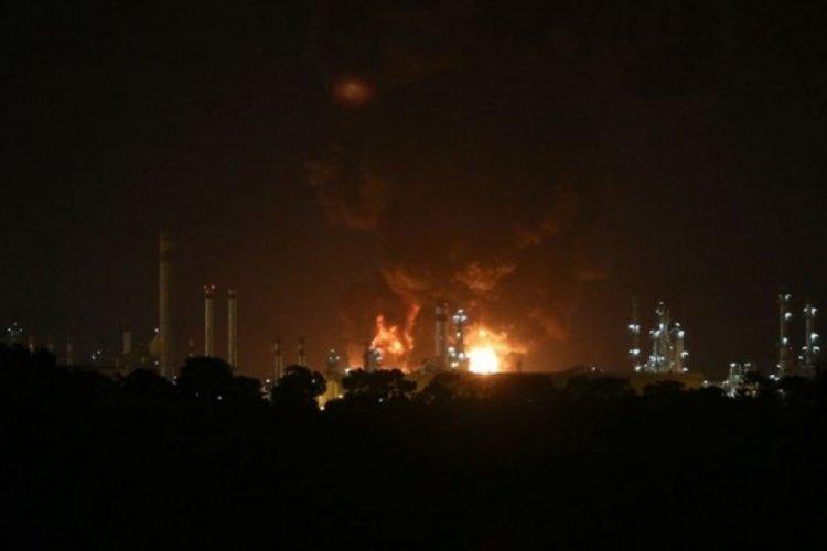 İran'da petrol rafinerisinde büyük yangın