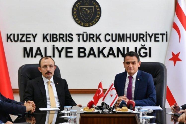 Ticaret Bakanı Muş, KKTC Maliye Bakanı Oğuz ile görüştü