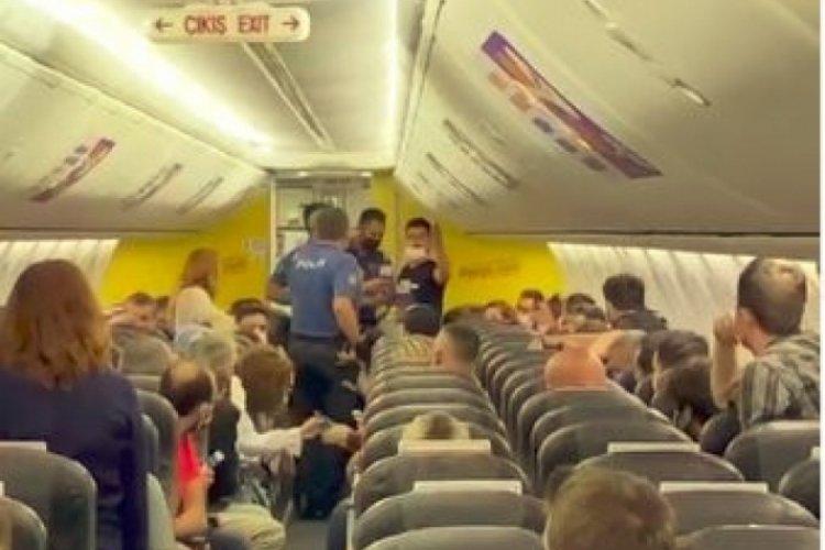 Uçakta taciz iddiası ortalığı karıştırdı