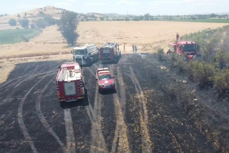 İzmir'de büyük yangın: 40 dönüm arazi küle döndü
