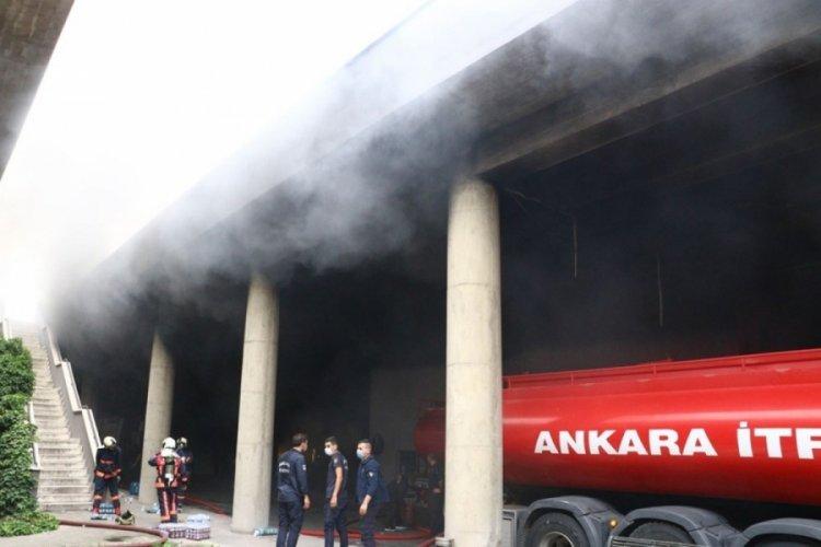 Ankara'da iş merkezindeki yangın 6 saatte söndürüldü