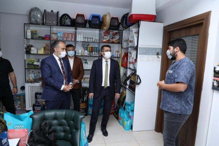Bursa Büyükşehir Belediye Başkanı Aktaş'tan esnafa ziyaret