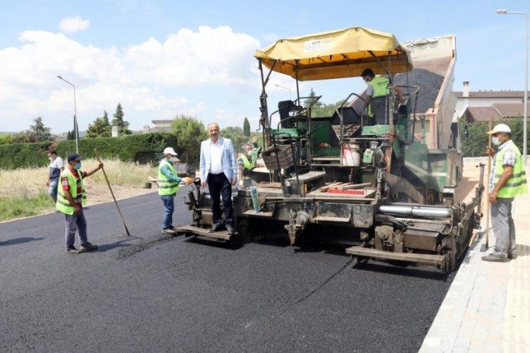 Bursa Mudanya'da yeni yerleşim yerleri asfaltlanıyor