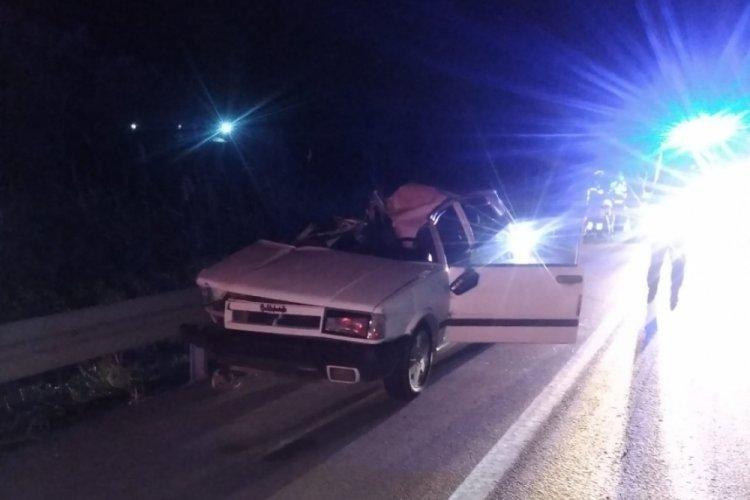 Bursa Karacabey'de trafik kazası: 1 ölü, 2 yaralı