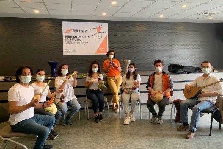 Bursa'nın Sebze Orkestrası uluslararası etkinlikte performans sergiledi