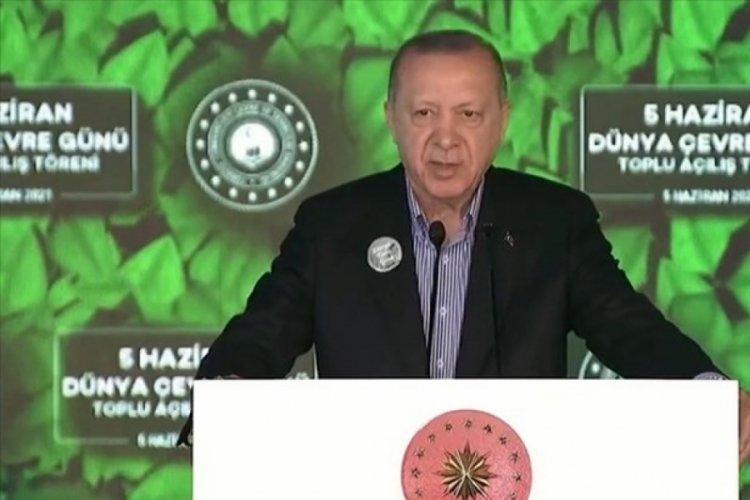 Cumhurbaşkanı Erdoğan'ın katıldığı açılışta güldüren diyalog