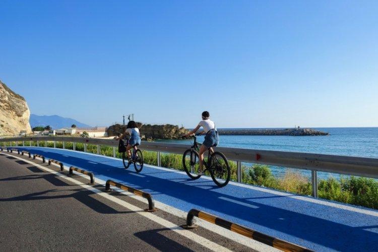 Hatay'da dünyanın en uzun bisiklet yoluna yoğun ilgi