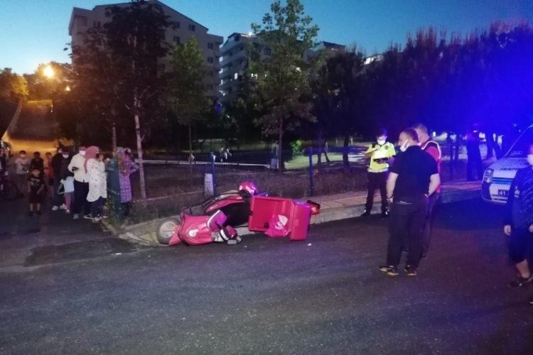 Trafik kazasında motosikletli kurye yaralandı