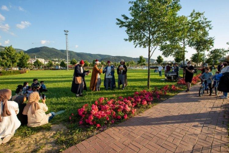 Bursa'da açık havada Yunus Emre performansı