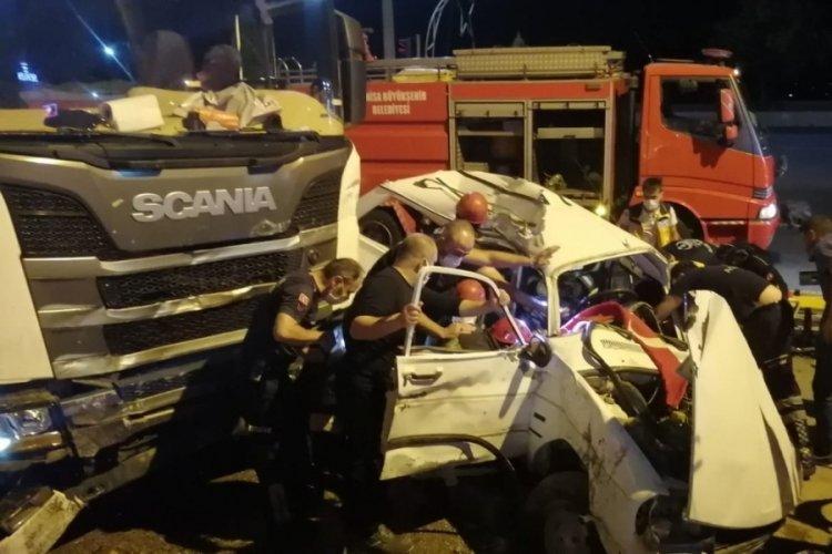 Manisa'da korkunç kaza!