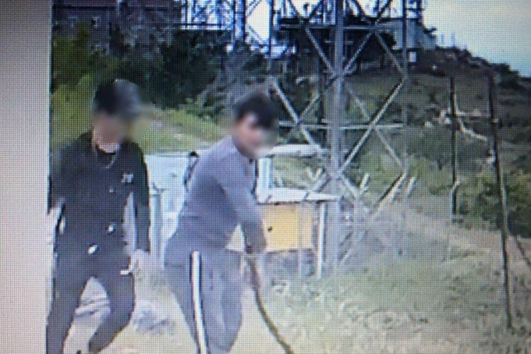 Bursa'da televizyon ve radyo vericilerine dadanan hırsızlar kamerada!