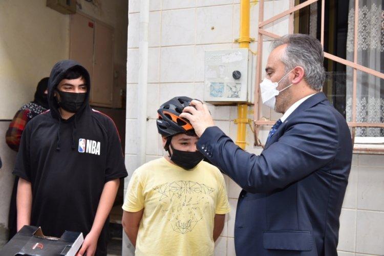 Bursa'da mektuptan bisiklet çıktı