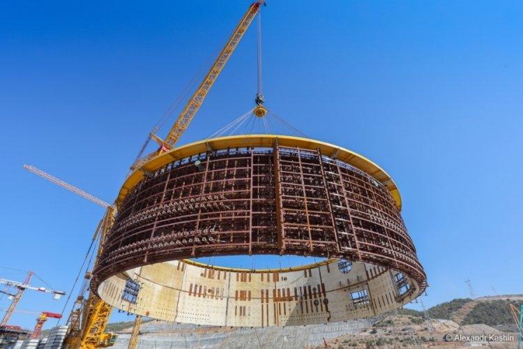 Akkuyu NGS'de iç koruma binasının 3'üncü katmanı kuruldu