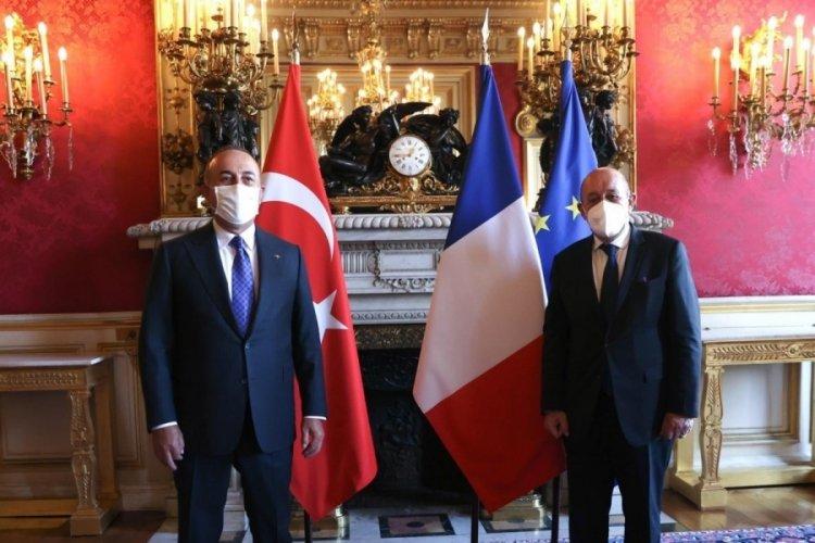 Dışişleri Bakanı Çavuşoğlu, Le Drian ile görüştü