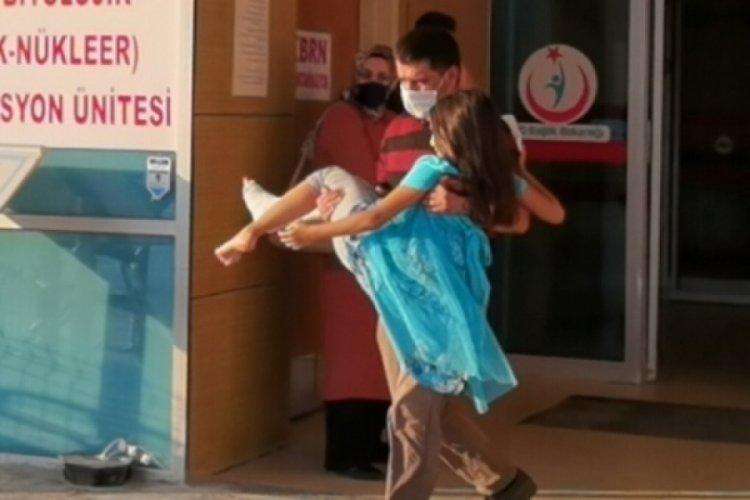 Bursa'da 9 yaşındaki Berra, torpil patlaması sonucu yaralandı