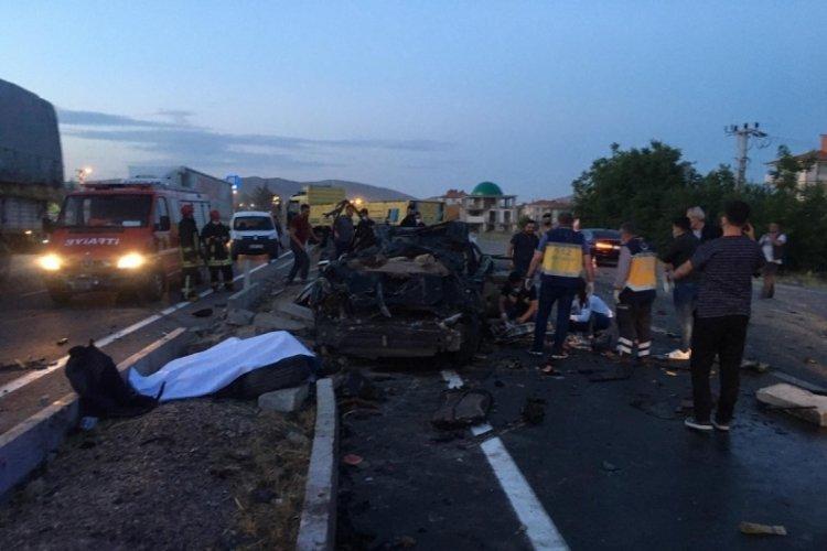 Konya'da kamyon kazası: 2 ölü, 1 yaralı