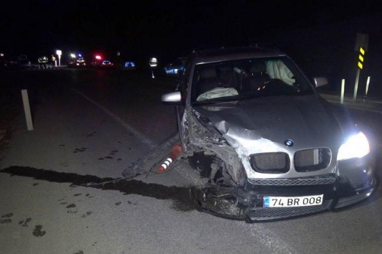 Ters şerit kazası: 2 jandarma yaralandı