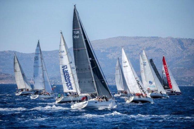 Yat yarışları için 18 tekne start aldı