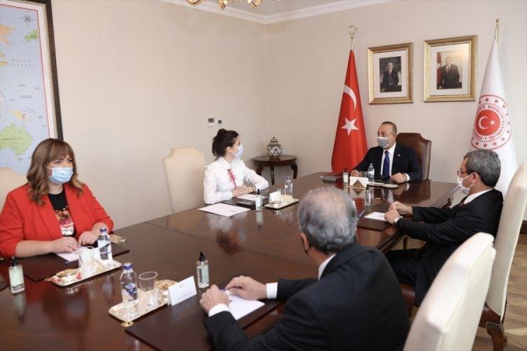 Çavuşoğlu, AKPM Ukrayna Delegasyonu Başkanı Mezentseva ile görüştü