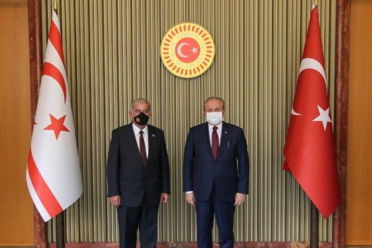 TBMM Başkanı Şentop, KKTC Cumhuriyet Meclisi Başkanı ile görüştü