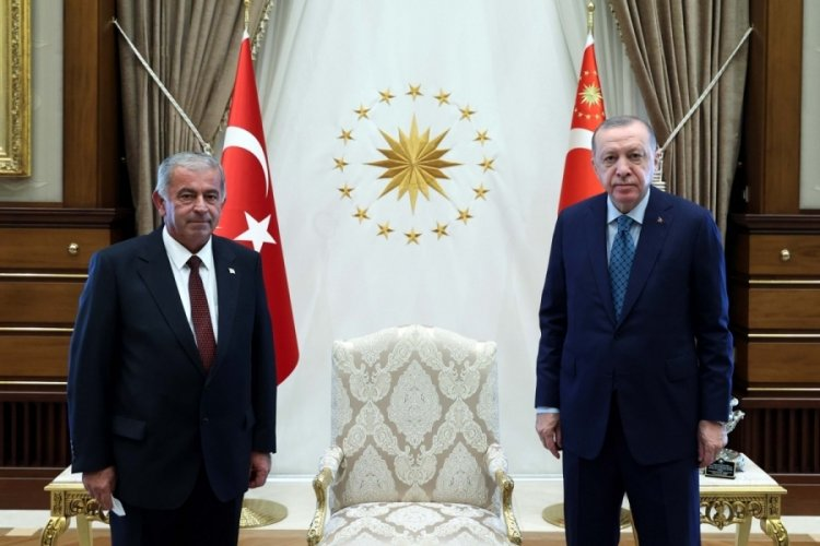 Erdoğan, KKTC Cumhuriyet Meclisi Başkanı Sennaroğlu'nu kabul etti