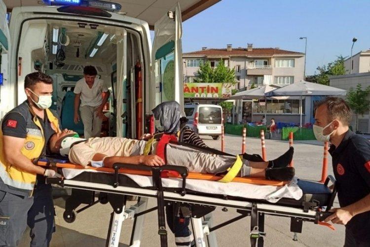 Bursa İnegöl'de elektrikli bisiklet kazası
