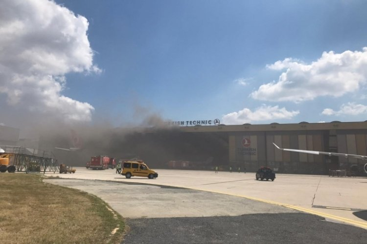 Atatürk Havalimanı'nda uçak bakım hangarında oksijen tüpü patladı