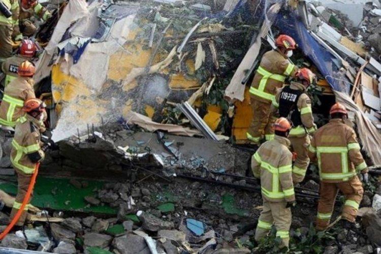 Güney Kore'de 5 katlı bina çöktü: 9 ölü, 8 yaralı