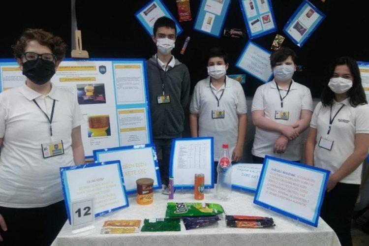 Bursa Salih Şeremet Ortaokulu öğrencilerinden TÜBİTAK sergisi