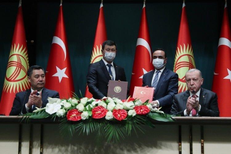 Cumhurbaşkanı Erdoğan ve Caparov'dan ortak basın toplantısı
