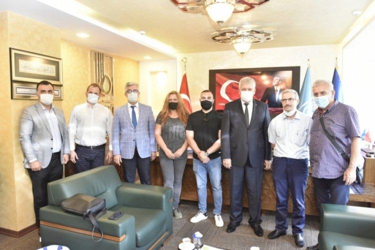 Bulgaristan'dan Bursa'ya gelen iş heyetinden BUSKİ'ye ziyaret