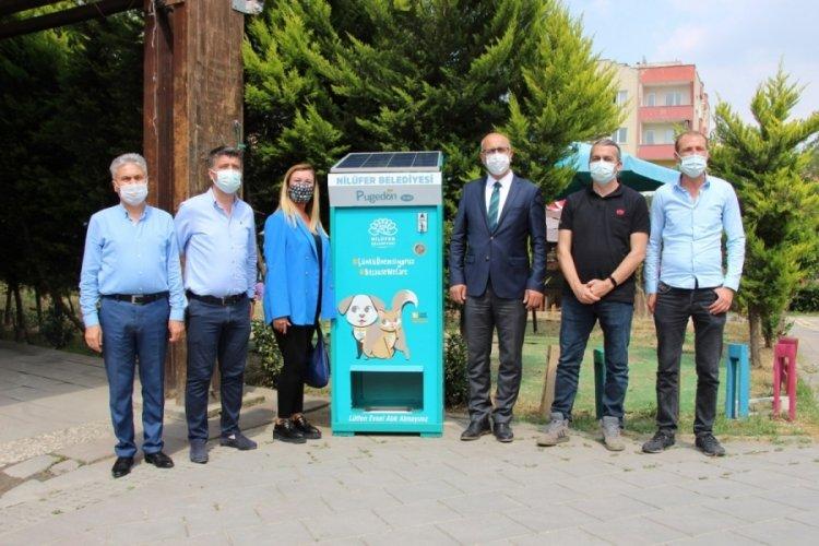 Bursa'da can dostlar için beslenme otomatları