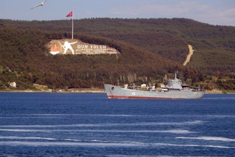 Rus savaş gemileri, Çanakkale Boğazı'ndan geçti
