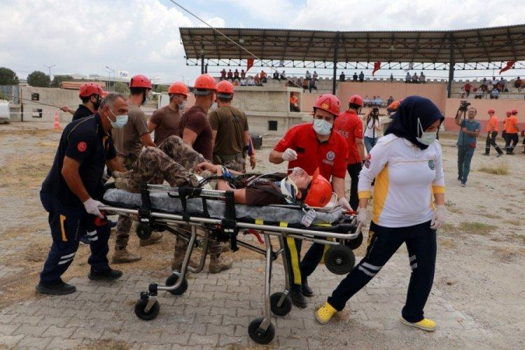 Adana'da 250 kişilik personelle deprem tatbikatı