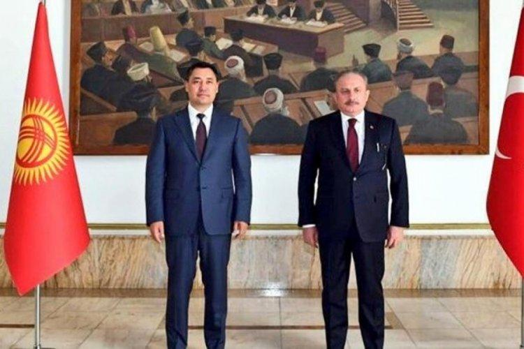 TBMM Başkanı Şentop, Kırgızistan Cumhurbaşkanı ile görüştü
