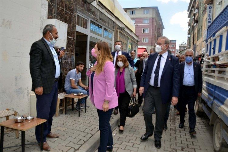 CHP Ekonomi Masası, Muş'ta ziyaretlerde bulundu