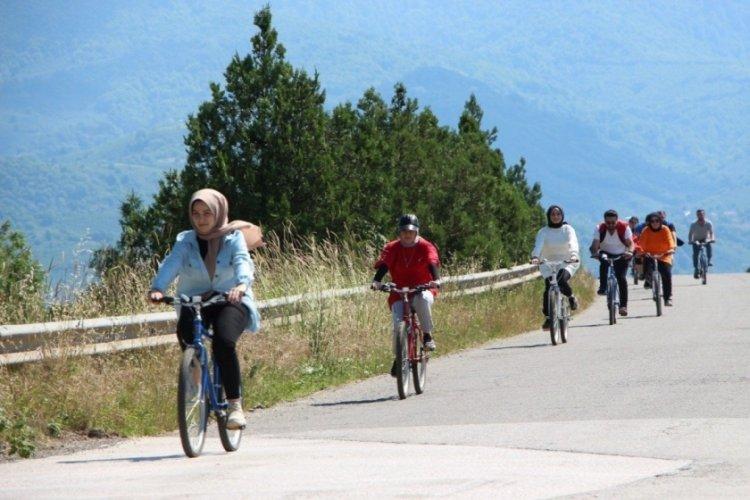 Sağlıklı yaşam için pedal çevirdiler