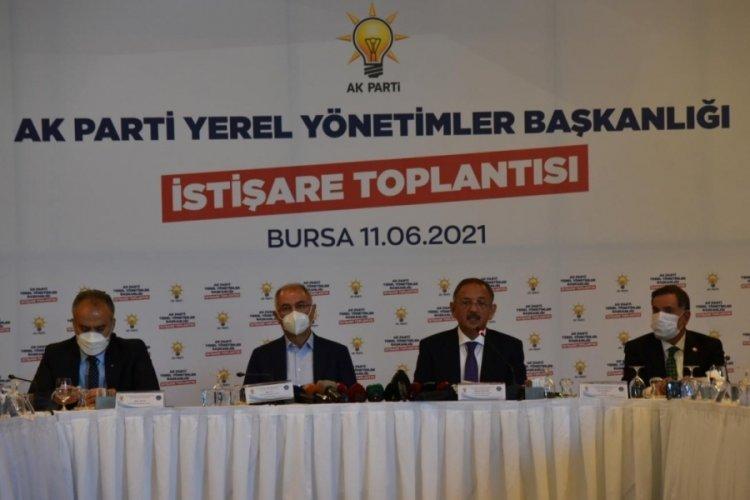 """AK Parti Genel Başkan Yardımcısı Özhaseki Bursa'da: """"İstanbul ve Ankara belediyeleri algı ile yönetiliyor"""""""