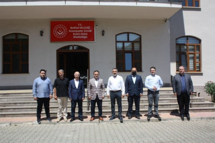 Bursa'da MÜSİAD yöneticileri Sevgi Evlerini ziyaret etti