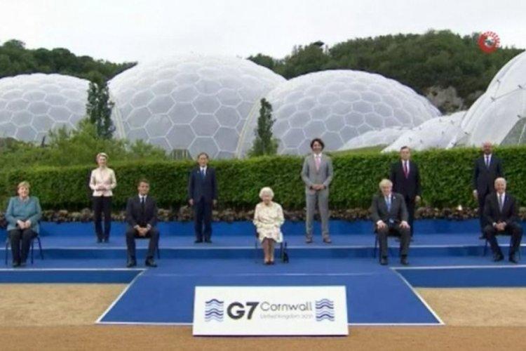 Kraliçe II. Elizabeth, Eden Projesi'ndeki resepsiyonda G7 liderlerini ağırlıyor