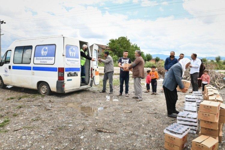 Bursa Mustafakemalpaşa'da mevsimlik işçilere özel destek
