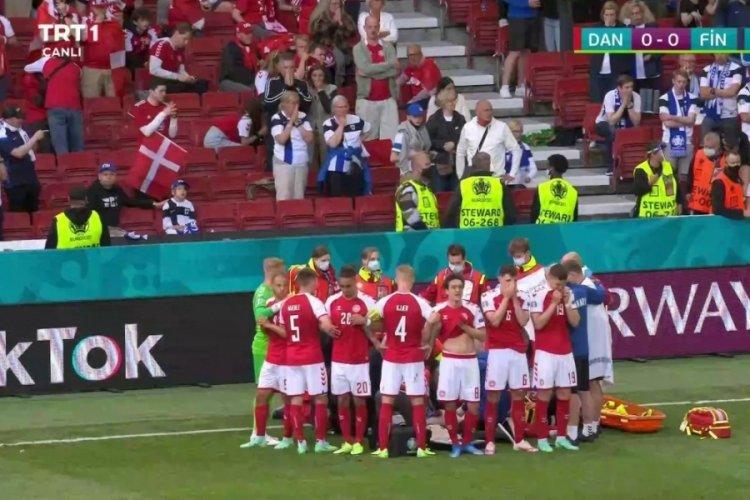 EURO 2020 maçında Christian Eriksen fenalaştı!