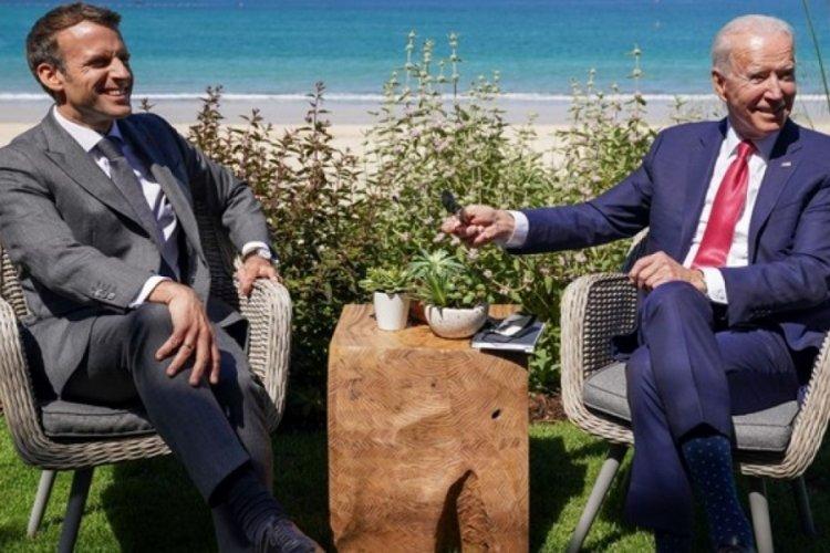 Biden ve Macron görüştü