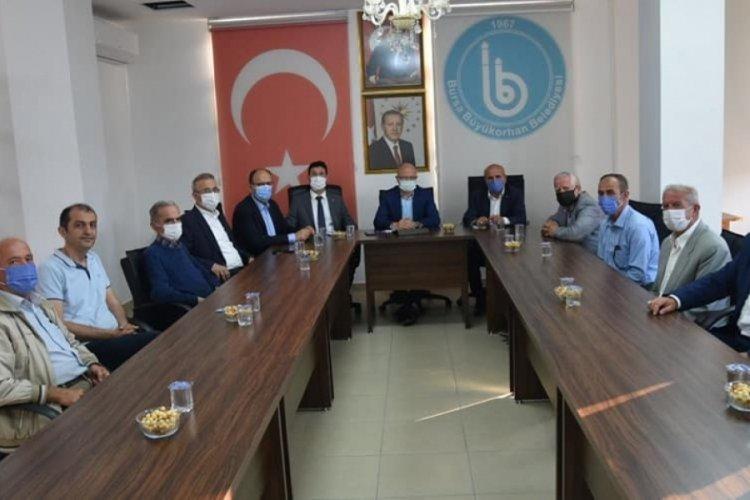 AK Parti İl Başkanı Gürkan'dan Büyükorhan'a ziyaret