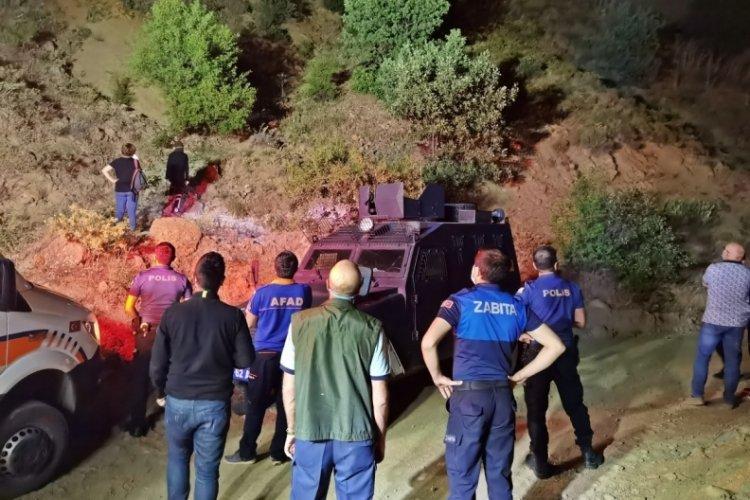 20 metrelik uçurumdan yuvarlanan kişi kurtarıldı
