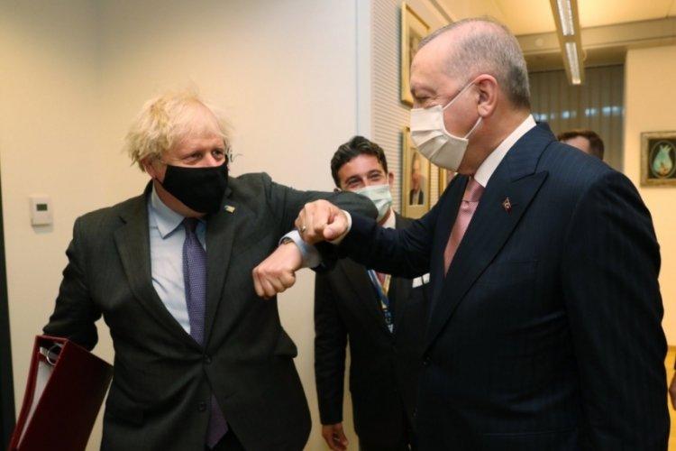 Cumhurbaşkanı Erdoğan'ın Johnson ile görüşmesi başladı