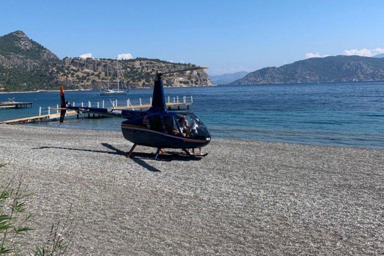 Helikopterin indiği plajdaki işletmeciler, olayı anlattı