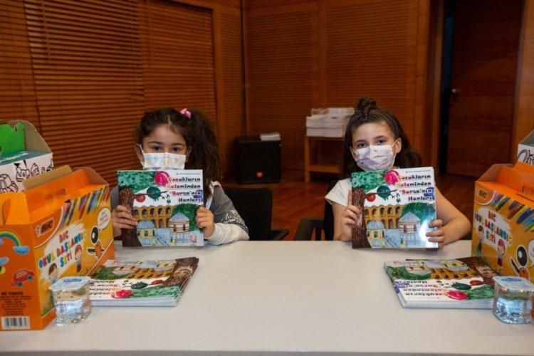 Bursa'da çocuklar Tarihi Çarşı ve Hanlar Bölgesi'ni kendi bakış açıları ile yorumladı