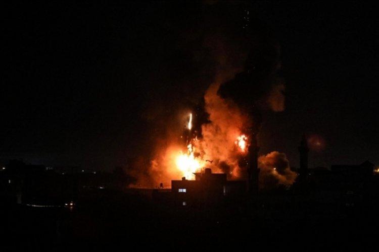 İsrail savaş uçakları, Gazze'ye saldırı düzenledi