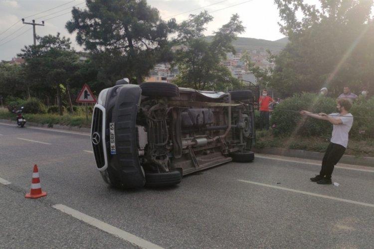 Bursa'da ambulans kazası